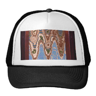 Elegant decoration Sea Land Waves abstract Border Hats