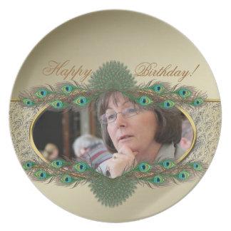 Elegant decorative photo plates for 50th Birthday
