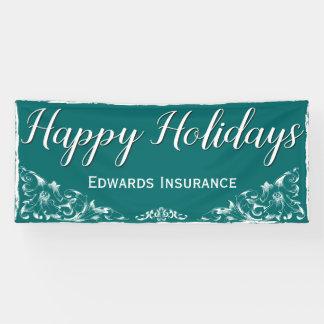 Elegant Decorative White Border Holiday Banner