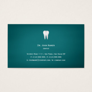 Elegant Dental | Aqua Business Card