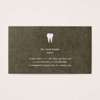 Elegant Dental Metallic Business Card