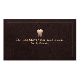 Elegant Dentist Tooth Logo Office Appointment Pack Of Standard Business Cards