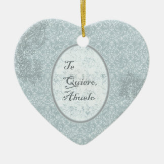 elegant design congratulation grandfathers ceramic heart decoration