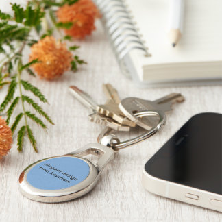 Elegant design oval keychain Silver-Colored oval key ring