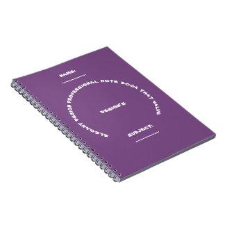 elegant design professional note book that value