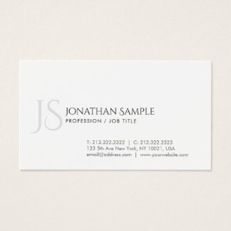 Elegant Design Simple Chic Trendy Monogram Business Card