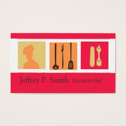 Elegant Designs Culinary Chef Catering Business Card