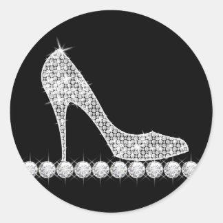 Elegant Diamond High Heel Shoe Stickers