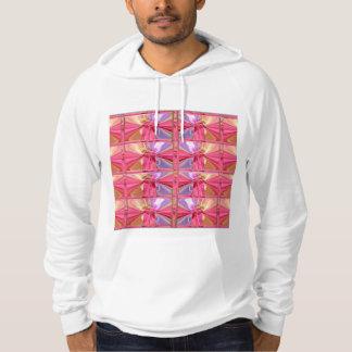 Elegant Diamond Pattern Rose Pink Smile Happy Show Hooded Sweatshirt
