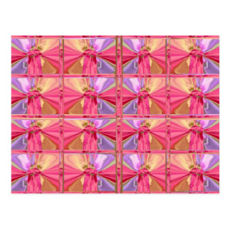 Elegant Diamond Pattern Rose Pink Smile Happy Show Postcard