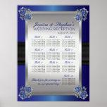 Elegant Diamonds Sapphire Wedding Seating Chart