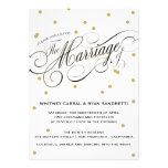 Elegant Dot Gold Wedding Invitation