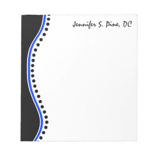 Elegant Dots Chiropractor Personalized Notepad