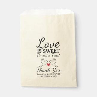 Elegant Dove Favor Bags - Bird Wedding Bags