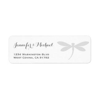 Elegant Dragonfly Return Address Label Template