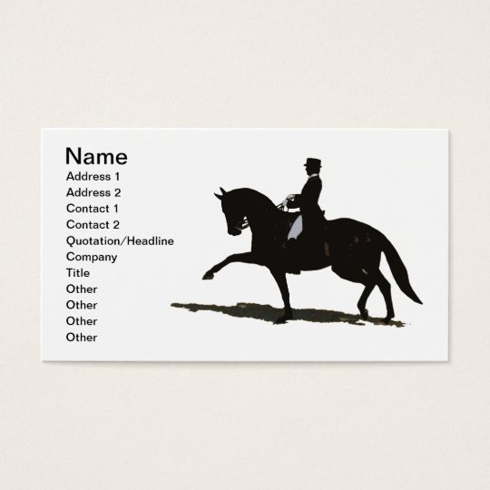Elegant Dressage Horse Business Card
