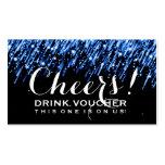 "Elegant Drink Voucher Falling Stars ""Sapphire Blue"
