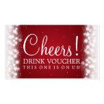 Elegant Drink Voucher Magic Sparkle Red
