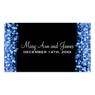 Elegant Drink Voucher Party Sparkles Blue Pack Of Standard Business Cards