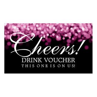 Elegant Drink Voucher Pink Lights Double-Sided Standard Business Cards (Pack Of 100)
