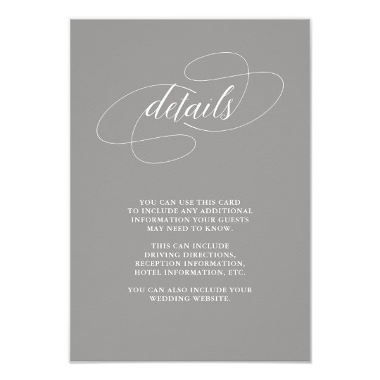 Elegant Dusty Purple Wedding Guest Information Card