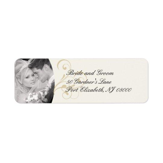Elegant Ecru Victorian Return Address Labels