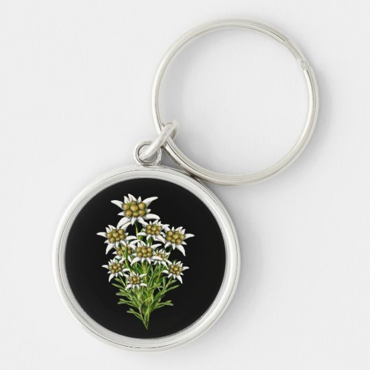 Elegant Edelweiss Flowers Key Chain