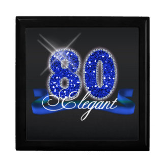 Elegant Eighty Sparkle Gift Box