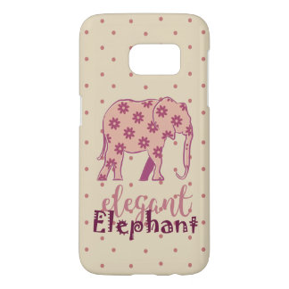 Elegant Elephant Cartoon Floral Pink Girly Chic