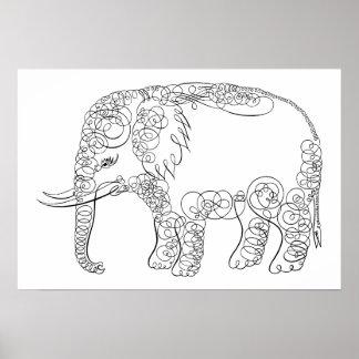 Elegant Elephant Print