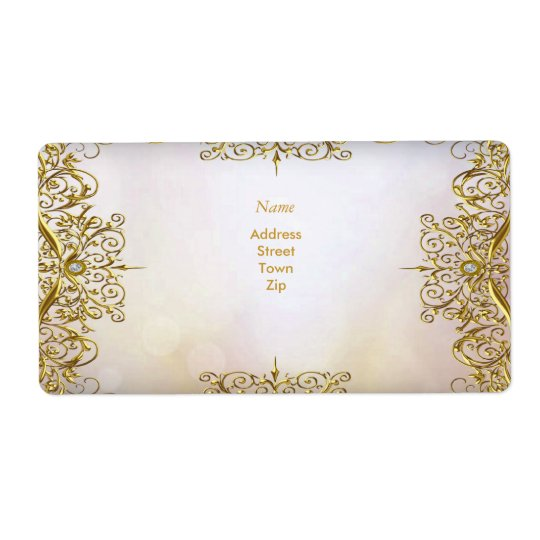 Elegant Elite White Gold Wedding Gold Beige