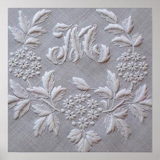 Elegant Embroidery Floral Print