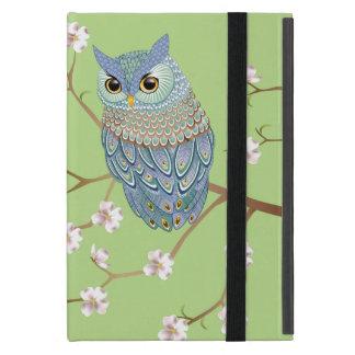 Elegant Emerald Blue Owl Powis iPad Mini Case