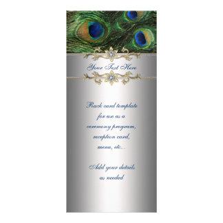 Elegant Emerald Green Peacock Rack Card