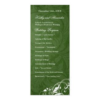 Elegant  Emerald Green Wedding Program Invitations