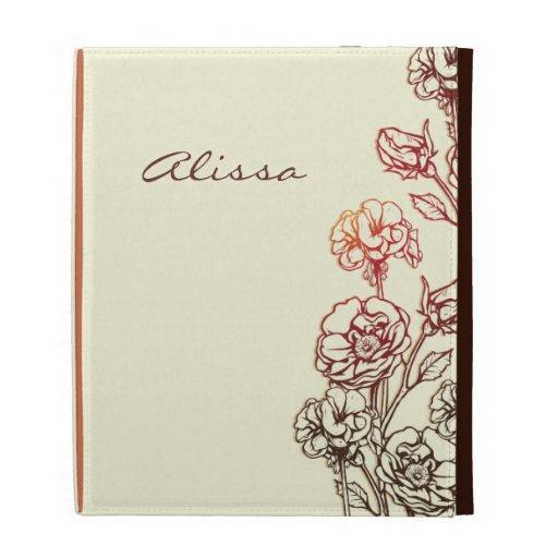 Elegant Engraved Floral iPad Case