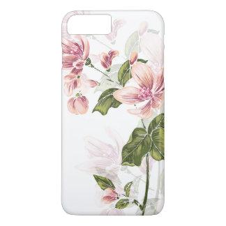 Elegant Engraved Wildflowers iPhone 7 Plus Case