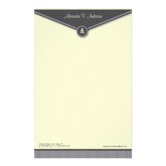 Elegant Envelope (slate) Monogram Stationery