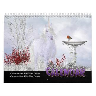 Elegant Equine Calendar Fantasy Horse Art Calendar