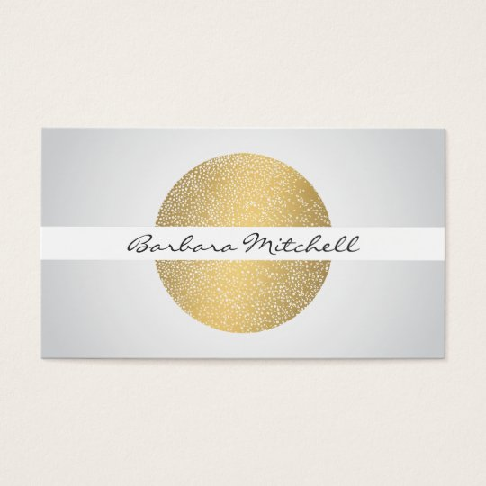 Elegant Etched Gold Circle Business Card