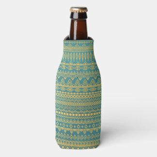 Elegant Ethnic Golden Pattern | Bottle Cooler
