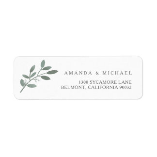 Elegant Eucalyptus Wedding Envelope Return Address Return Address Label