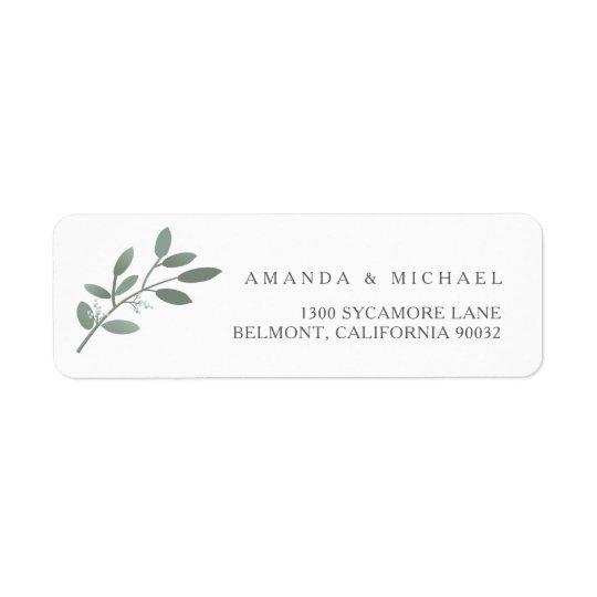 Elegant Eucalyptus Wedding Envelope Return Address Return Address Label
