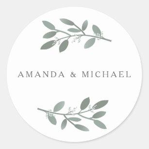 ELEgant Eucalyptus Wedding Envelope Seal