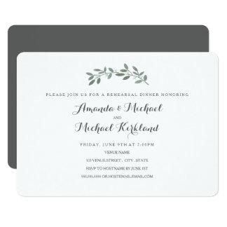 Elegant Eucalyptus Wedding Rehearsal Dinner 13 Cm X 18 Cm Invitation Card