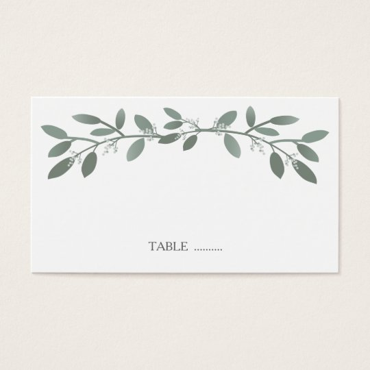 Elegant Eucalyptus Wedding Seating Place Cards