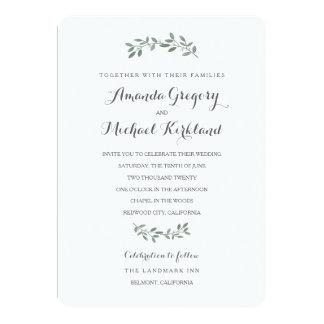 Elegant Eucalyptus Wedding Suite 13 Cm X 18 Cm Invitation Card