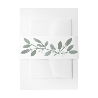 Elegant Eucalyptus Wedding Suite Belly Band Invitation Belly Band
