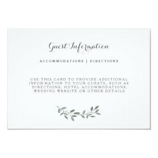 Elegant Eucalyptus Wedding Suite Insert Card 9 Cm X 13 Cm Invitation Card