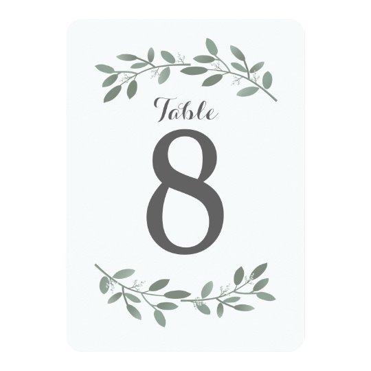 Elegant Eucalyptus Wedding Suite Table Numbers Card